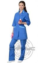 Костюм для сферы услуг женский: куртка, брюки васил. с голубым