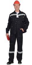 """Костюм """"СИРИУС-ТРОЯ"""" : куртка, полукомбинезон синий с СОП (100% узбекская саржа)"""