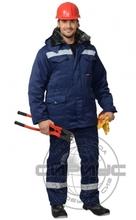 "Костюм ""СИРИУС-Мастер-ПРО"": куртка дл.,брюки тем.-синий СОП-50 мм"