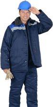 """Куртка """"СИРИУС-БРИГАДИР"""" с меховым ворот. синий с вас. и СОП"""