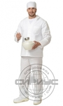 Костюм повара мужской: куртка, брюки белый