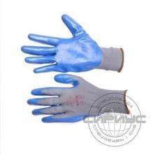 "Перчатки ""НейпНит"" р.7(S),8(M),9(L),10(XL) (нейлон+нитрил синий,13-й класс вязки)"