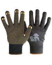 """Перчатки """"НейпДот-Ч"""" (нейлон, ПВХ-точка, цвет черный), в уп. 300пар"""