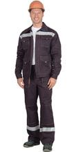"""Костюм """"СИРИУС-ТРОЯ"""": куртка, брюки т.коричневый с СОП"""