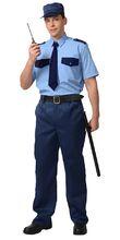 Рубашка Охранника кор. рукав, голубая с т.синим