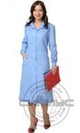 Халат женский с рельефами голубой