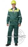 """Костюм """"МЕХАНИК"""": куртка, брюки зелёный с жёлтым и СОП 25 мм.тк.CROWN-230"""