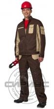 """Костюм мужской """"Темп"""" куртка, п/к т.коричневый с бежевым"""