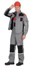 """Костюм """"СИРИУС-СТАН"""" куртка, п/к, серый с черн и красн."""
