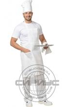 Фартук повара с грудкой (бязь) белый.