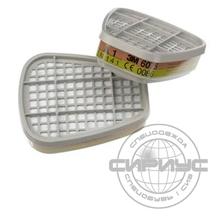 Фильтр 3М 6075, герметично упак.по 2 шт,цена за 1 шт., продавать кратно 2 шт.