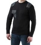 Джемпер форменный,  черный с накладками