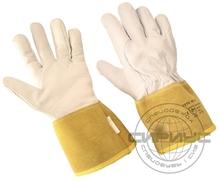 Краги-перчатки аргонщика, спилковые