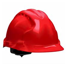 Каска строительная Эталон храповый механизм, красная