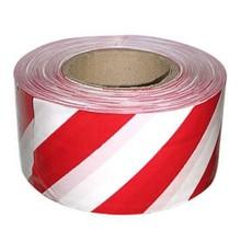 Лента оградительная, бело-красная 75 мм