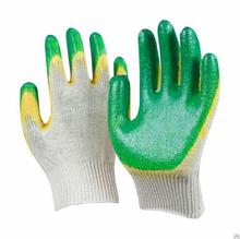 Перчатки трикотажные х/б с 2-латексным покрытием