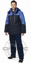 """Куртка мужская """"Вега"""" зимняят-синяя с васильковым"""