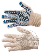 Перчатки трикотажные х/б с ПВХ «Люкс-Волна»7,5й класс