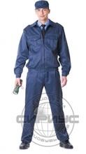 """Костюм """"АЛЬФА"""": куртка, брюки (тк. смесовая) синий"""