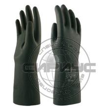 """Перчатки """"ХИМИК"""" LN-F-08 (неопрен+латекс, хлопковый слой, толщ.0,7мм, дл.320мм) р.S,M,L,XL Manipula"""