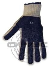 Перчатки х/б с ПВХ сплошное покрытие ладони (60 гр, длин 25 см, оверлок)