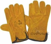 Перчатки спилковые Siberia DRIVER 0128, утепленные