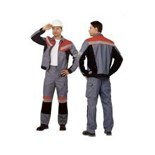 """Костюм """"Памир"""" серый с черным и красным (куртка+брюки) пл. 240 г/м²"""